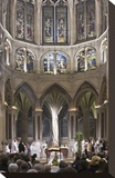 Easter mass in Church of Saint Severin  Paris  Ile de France  France
