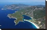 View of the Lagoon of Oludeniz near Fethiye  Mugla Province  Lycia  Turkey