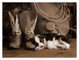 Cowboy Puppy Sepia