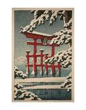 Miyajima in Snow (Yuki no Miyajima)  1929