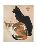 Two Cats, 1894 Reproduction d'art par Théophile Alexandre Steinlen