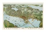 Map of Seattle  Washington  1891