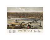 Bird's Eye View of Louisville  Kentucky  1876