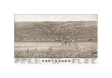 Bird's Eye View of Cleveland  Ohio  1877