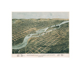 Minneapolis and Saint Anthony  Minnesota  1867