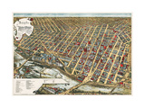Bird's Eye View of Minneapolis  Minnesota  1891