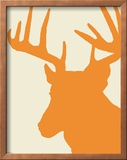 Graphic Deer Print - Orange