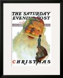 """Christmas  1927"" (King Kong Santa) Saturday Evening Post Cover  December 3 1927"