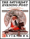 """Santa's Expenses"" Saturday Evening Post Cover  December 4 1920"