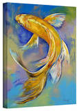 Michael Creese 'Orenji Butterfly Koi' Gallery-Wrapped Canvas