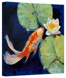Michael Creese 'Koi and White Lily' Gallery-Wrapped Canvas