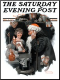 """Playing Santa"" Saturday Evening Post Cover  December 9 1916"