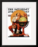 """Santa at the Globe"" Saturday Evening Post Cover  December 4 1926"