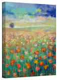 Michael Creese 'Dancing Poppies' Gallery-Wrapped Canvas