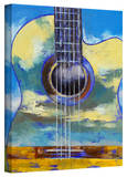 Michael Creese 'Guitar and Clouds' Gallery-Wrapped Canvas