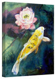 Michael Creese 'Koi and Lotus Flower' Gallery-Wrapped Canvas