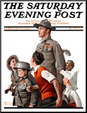 """When Johnny Comes Marching Home"" Saturday Evening Post Cover  February 22 1919"
