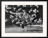 Famous Animal Trainer Vladimir Durov of the Moscow Circus Performing with His Birds