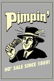 Pimpin' Ho' Sale Since 1869 Funny Retro Plastic Sign