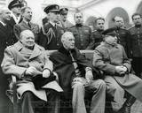 Winston Churchill  Franklin D Roosevelt and Joseph Stalin at Yalta in 1945