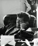 President John F Kennedy in the Oval Office