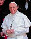 Pope Francis I  Cardinal Jorge Mario Bergoglio leaves the Basilica in Rome  March 14  2013