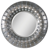 Splendid Antique Silver Circular Mirror