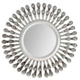 Evana Silver Plated Circular Mirror