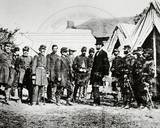 Abraham Lincoln  General George McClellan and Union Troops