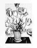 Fleurs noires Reproduction pour collectionneurs par Roy Lichtenstein