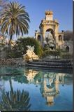 Fountain in the Parc de la Ciutadella in Barcelona  Catalonia  Spain