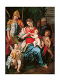 Madonna with Child and Sts Michael the Archangel
