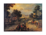 Landscape with Riders and Wagons