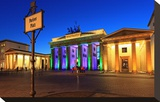 Festival of Lights  Brandenburg Gate at Pariser Platz  Berlin  Germany