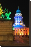 Festival of Lights  French Cathedral at Gendarmenmarkt  Berlin  Germany