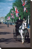 Parade with coach  London  United Kingdom of Great Britain