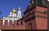 Kremlin Wall and Grand Kremlin Palace  Moscow  Russia
