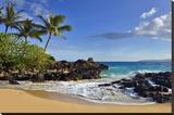 Makena Beach State Park with View towards Molokini Island  Island of Maui  Hawaii  USA