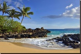 Makena Beach State Park with View towards Molokini Island  Island of Maui  Hawaii  USA