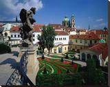 Mala strana Baroque garden  Prague  Central Bohemia  Czech Republic