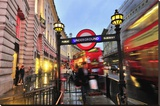 Piccadilly Circus Underground Station in Regent Street  London  South of England