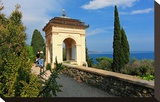 Pavilion with View of the Sea at Hanbury Botanic Gardens near Ventimiglia  Italy