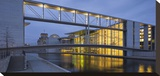 Marie Elisabeth Lueders House footbridge and upper bridge at Paul Loebe House  Berlin  Germany