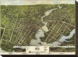 View of Bridgeport  Connecticut  1875