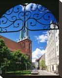 Nikolai Church at the Nikolai quarter  Berlin  Germany