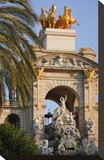 Mermaid sculpture on a fountain in the Parc de la Ciutadella in Barcelona  Catalonia  Spain