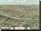 Bird's Eye View of Iowa City  Iowa  1868