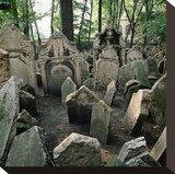 Old Jewish Cemetery  Josefov  Old Town  Prague  Central Bohemia  Czech Republic