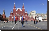 Red Square with State Historical Museum  Moscow  Russia