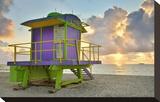 Lifeguard Station on the Beach  Miami Beach  Florida  USA